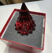 Baccarat Noel Mille Nuits Fir Tree Red Crystal Made In France 2814625