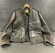 Bermanandrsquos Black 44t Cafe Racer Insulated Lined Motorcycle Biker Moto Vintage