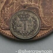 Scc Great Britain Uk Silver 1 Penny 1850. Km727 From Maundy Set 1 Cent Coin