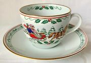 Royal Worcester Christmas Village Cup And Saucer Set Excellent Condition