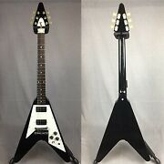 Gibson Flying V 3967 Ebony 2006 Electric Guitar With Tough Case