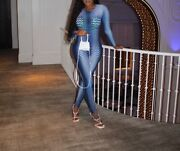Blue Marine Serre Jumpsuit New Stretchy Fit Ships Immediately Great Cond.andnbsp