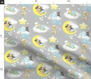 Yorkie Chihuahua Catia Cho Dogs Puppies Clouds Spoonflower Fabric By The Yard