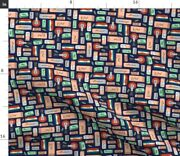 Vintage Illustration Office Supplies School Spoonflower Fabric By The Yard