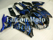 Blue Flame Black Fairing Fit For Ninja Zx14 2006-2011 Abs Plastic Injection Mold