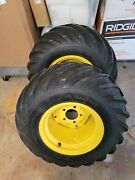 John Deere 425445455 Bar Tire And Wheel Package Set Of Two Excellent Condition