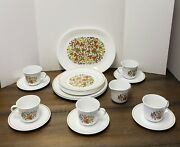 Vintage 21 Pc Corelle Indian Summer Dinnerware With A Server Cup