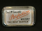 Vintage D. And J Mccallumand039s Whisky And Scotch Advertising Glass Paperweight London