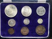 British South Africa King George Vi 1952 Proof Coin Set Farthing - Crown Cased
