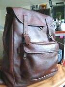 Vintage Ll.bean Usa  Leather Drawstring Bucket Backpack 3