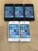 Lot Of 5 Apple Iphone 4s - 32gb - Black And White Unlocked Working Condition