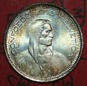 Switzerland 1969 5 Francs National Arms William Tell 31.45mm- Foreign Coin