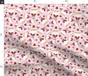 Santa Saint Nick Pink And Red St Spoonflower Fabric By The Yard