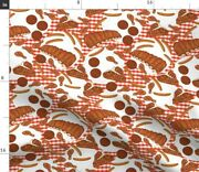 Food Cooking Grill Meat Ribs Barbecue Bbq Spoonflower Fabric By The Yard