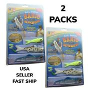 2 Packs Banjo Minnow 006 110 Piece Fishing System Lures As Seen On Tv Fast Ship