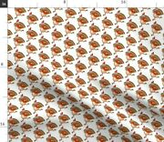 Red Animals Holiday Christmas Cartoon Turkey Spoonflower Fabric By The Yard
