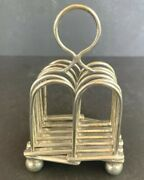 Antique Concertina Toast Rack_silver Plate_6 Slots_expandable_england_rare