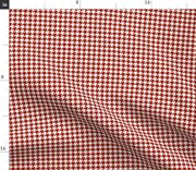 Red Geometric Check Houndstooth Turkey Red Spoonflower Fabric By The Yard