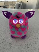 2012 Hasbro Furby Boom Electronic Interactive Toy Teal Pink Hearts Tested