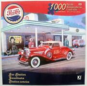 1000 Piece Jigsaw Puzzle Pepsi-cola Gas Station + Poster Complete Near Mint