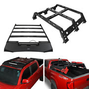 Hooke Road Roof+bed Rack Luggage Carrier Storage Kit Fit Toyota Tacoma 2005-2021
