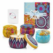 Scented Candles Birthday Gifts For Women Stress Relief Gifts For Women 6 Pack