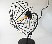 Fan-shaped Iron Table Accent Lamp Light Mid Century Modern Retro Large 26 Tall