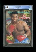 Sports Illustrated Newsstand 1986 Mike Tyson Cgc 6.0 First Rookie Cover
