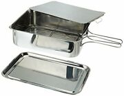 Excelsteel Stainless Steel Stovetop Smoker 14 1/2 X 10 1/2 X 4 Silver