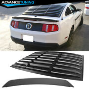 Fits 05-09 Ford Mustang Coupe Rear Window Louver + Oe Style Trunk Spoiler