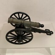 Vintage Metal Toy Cannon 4.25 Inches Art 373 Made In Italy Cap Gun