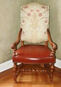 Mike Bell Gascogne Armchair Maple Antique French Renaissance Style 14 Available