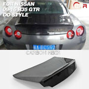 Do Style Rear Trunk Double Side Carbon Fiber Bootlid Cover For Nissan R35 Gtr