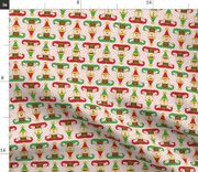 Christmas Elf Saint Nick Santa Claus Candy Cane Spoonflower Fabric By The Yard