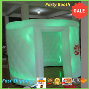 ✅inflatable Oval Photo Booth Air Tent Photobooth Portable Led Lights And Blower
