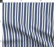 White Stripe Blue Victorian Navy Kitchen Blue And Spoonflower Fabric By The Yard