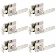 Gobrico Pack Of 6 Square Door Handles Levers Bedroom And Bathroom Privacy Loc...