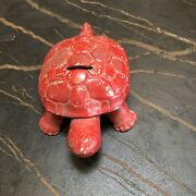 Vintage Snapper Mowers Snapping Turtle Advertising Promotional Metal Bank