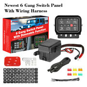 6 Gang Switch Panel Dimmable Electronic Relay Circuit Control System Boat Marine