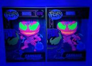 Funko Pop Marvel Black Light Carnage 678 Exclusive Edition With Protector