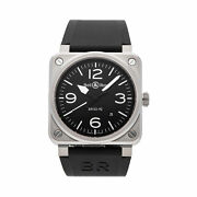 Bell And Ross Br 03-92 Black Steel Auto 42mm Mens Watch Br0392-blc-st
