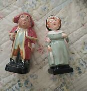 Vintage Dickens Figurines- Royal Doulton Mrs. Bardell Artone England Toby...