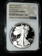 2021 S Type 2 Silver Eagle Ngc Pf70 First Release With Box And Coa Last One