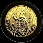 2016 Great Britain 1 Oz Gold Queenand039s Beasts The Lion