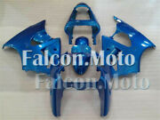 Blue Complete Fairing Fit For Kawasaki 2000-2002 Ninja 636 Zx6r Injection Abs Ak