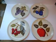 4 Mancioli Fruits Dinner Plates 10 1/8 Made In Italy Read Details