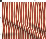 French Turkey Red Stripe Pinstripe Spoonflower Fabric By The Yard