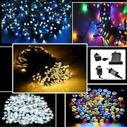 100-500led Us Plug In Fairy String Lights Indoor Outdoor Christmas Tree 2m Cable
