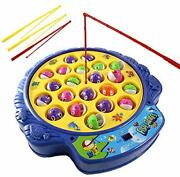 Fishing Game Toy Set With Rotating Board   Now With Music On/off Switch For