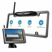 Wireless License Plate Backup Camera Monitor With Us Standard 5 Inch Black